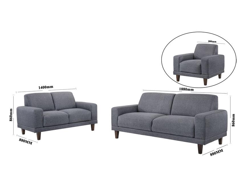 Sc812 Fabric Sofa Set 1 2 3